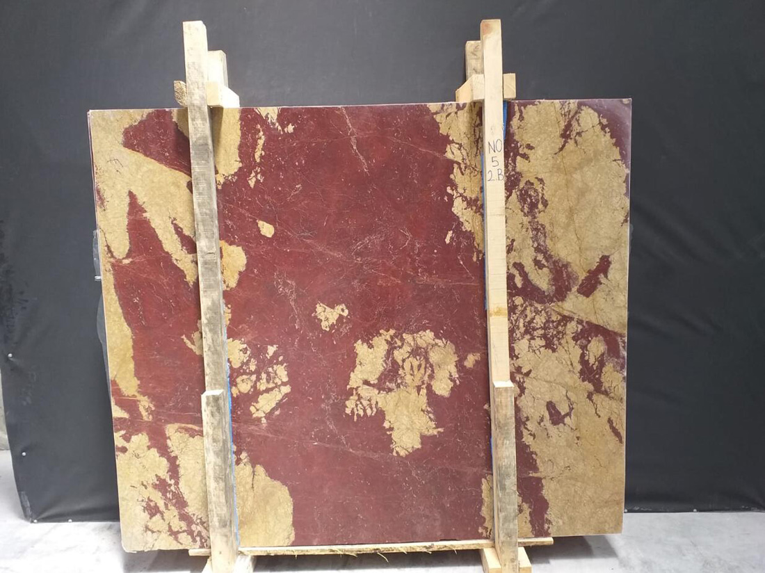 Turkish Rosso Ducale Marble Slabs Polished Anatolian Wine Marble Slabs