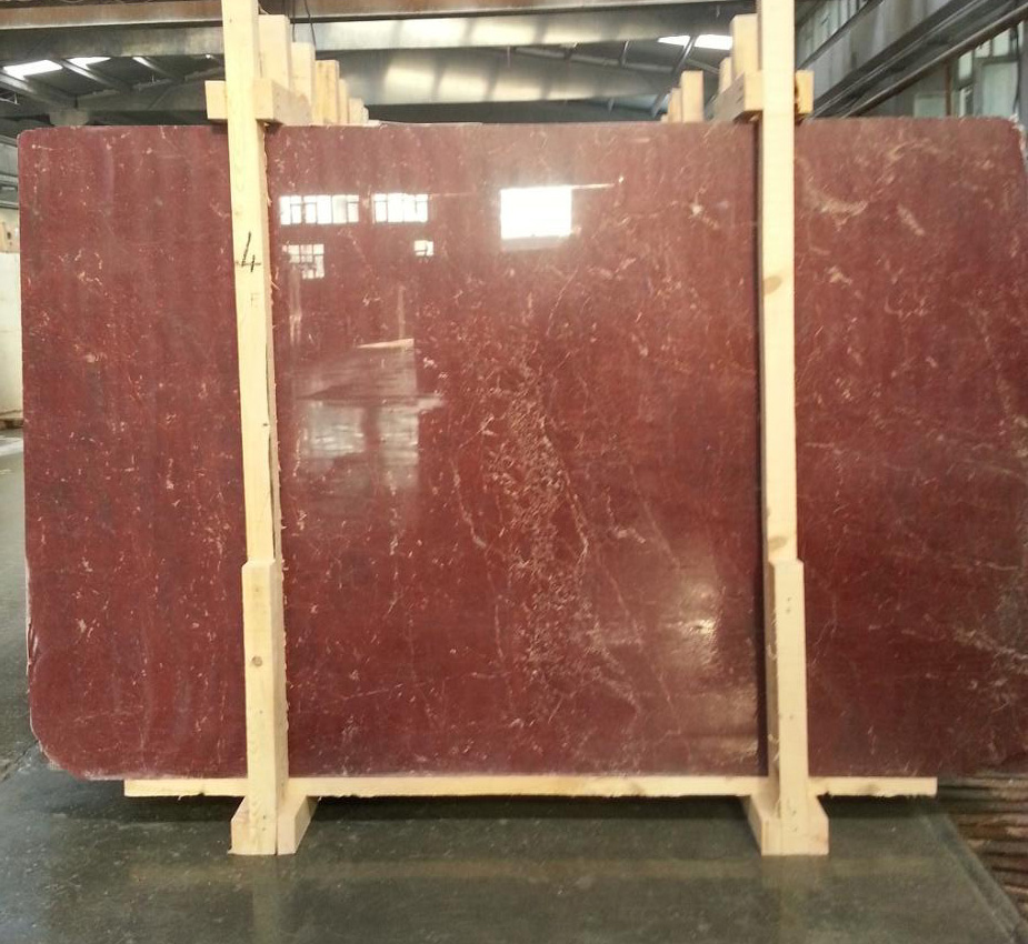 Turkish Rosso Ducale Marble Slabs Polished Red Marble Stone Slabs