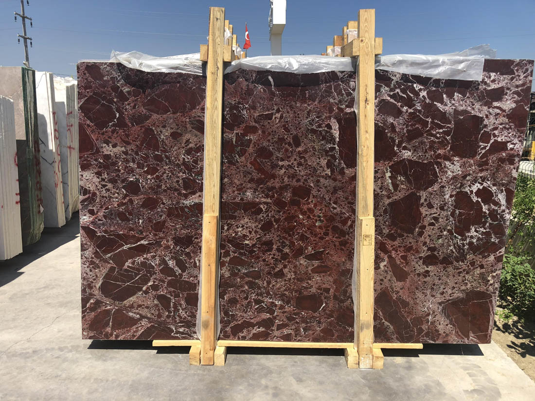 Turkish Rosso Levanto Best Quality Marble Slabs