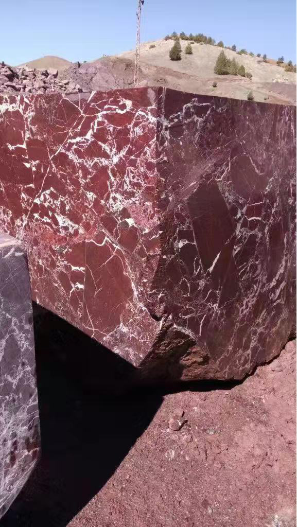 Turkish Rosso Levanto Natural Red Marble Blocks