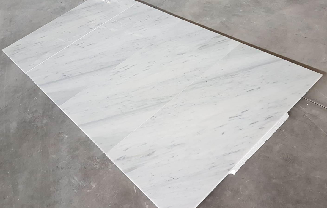 Turkish Stracciatella White Marble Tiles for Walling and Flooring