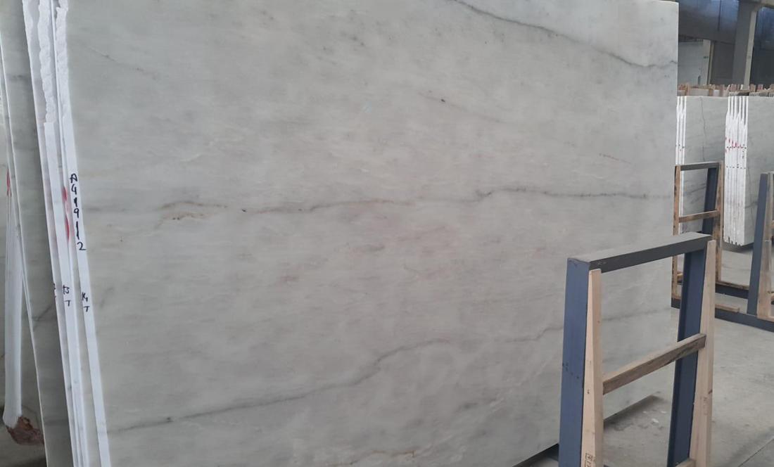 Turkish Volakas White Stone Slabs Polished Natural Marble Slabs