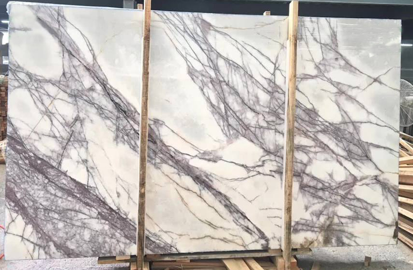 Turkish White Marble Slabs Lilac Marble Slabs
