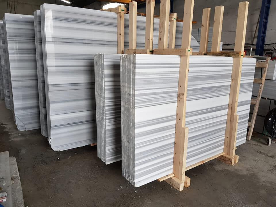 Turkish White Marble Slabs Polished Equator Slabs