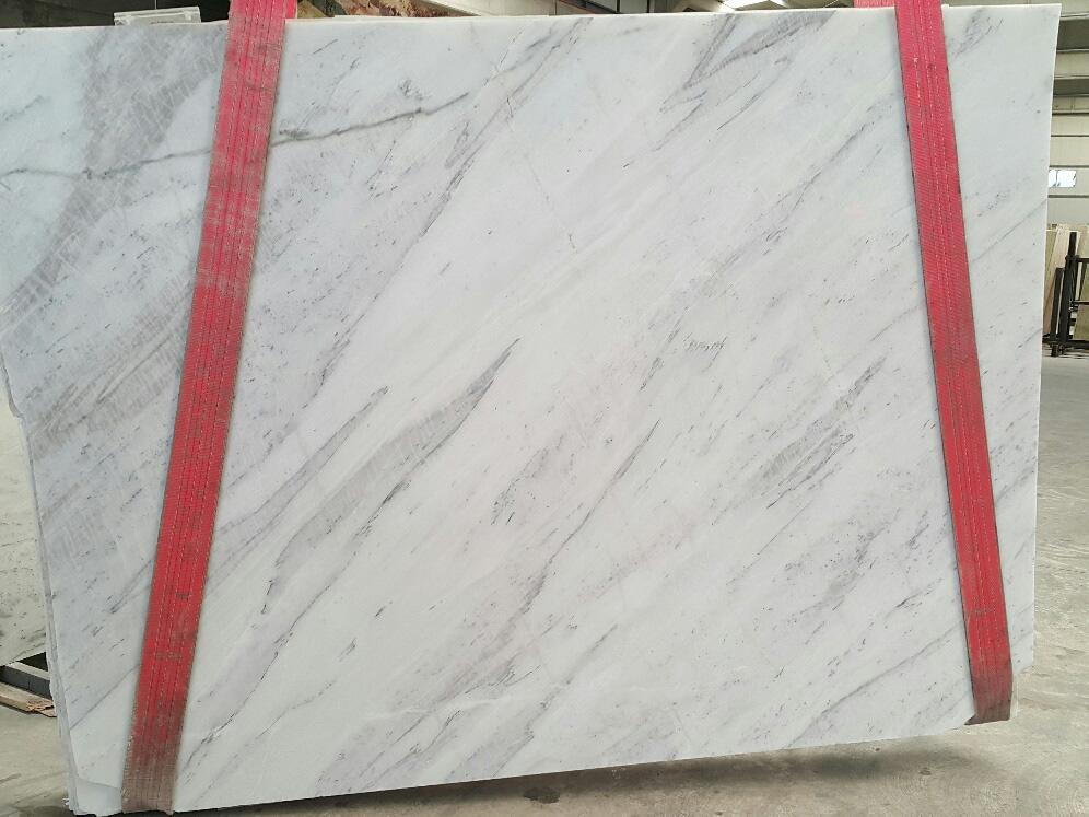 Turkish White Marble Slabs Polished Volakas White Stone Slabs