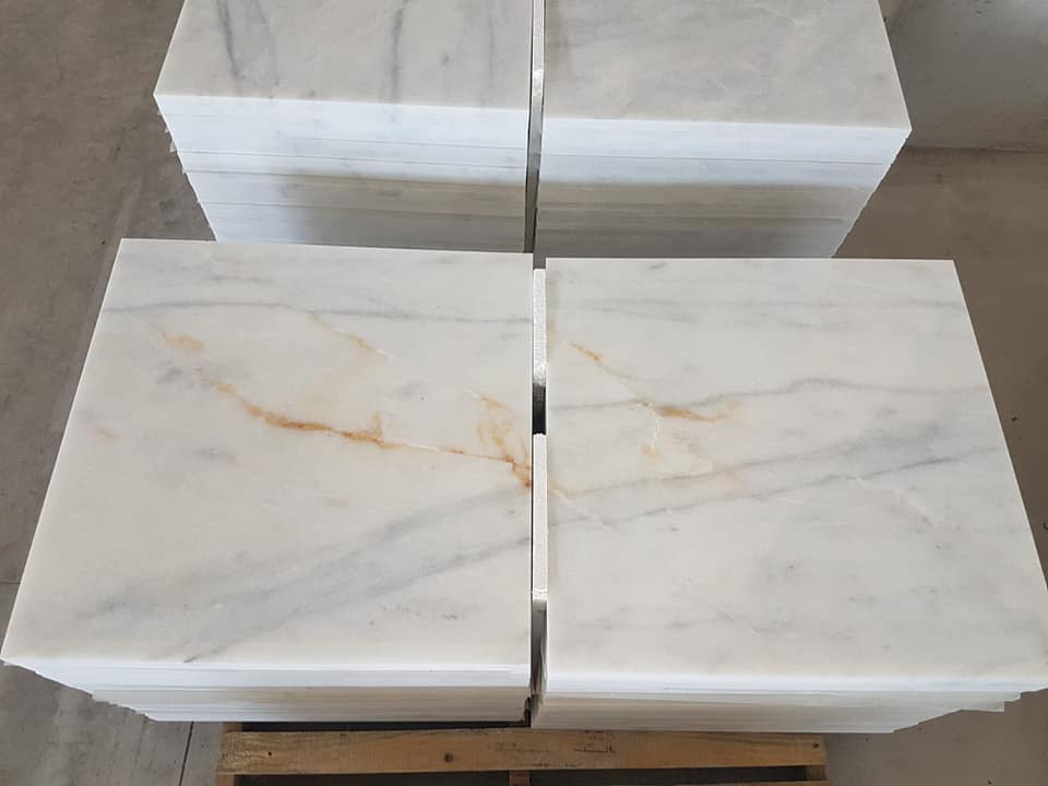 Turkish White Marble Tiles Mugla Beyaz Tiles