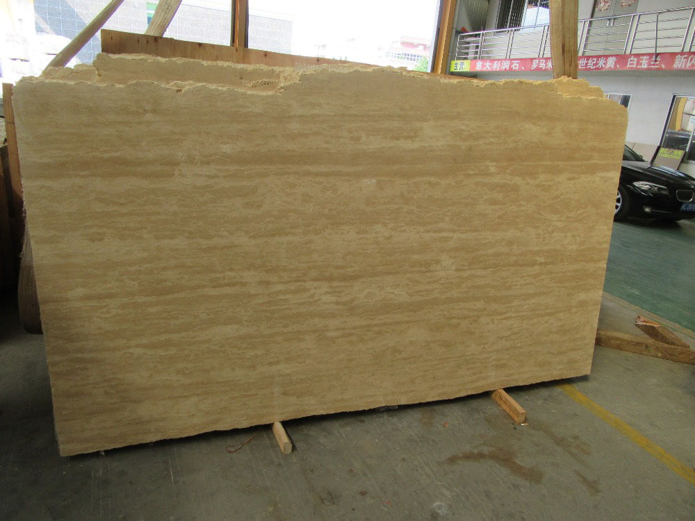 Turkish Yellow Travertine Slab