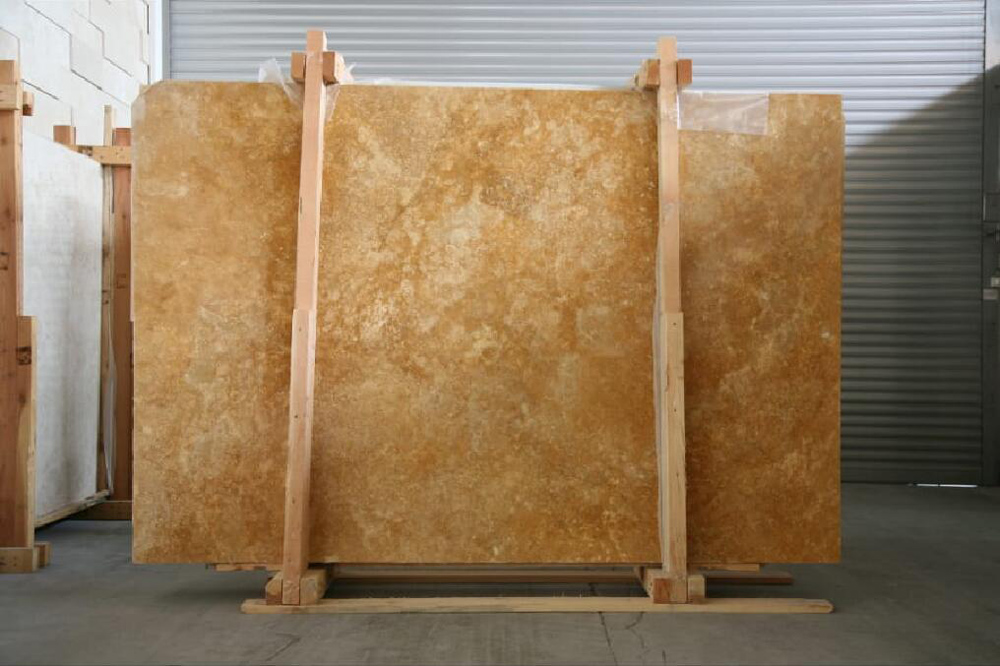 Turkish Yellow Travertine Slabs Top Quality Travertine Stone Slabs