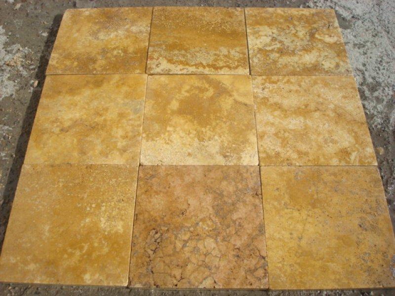 Turkish Yellow Travertine Tiles for Flooring