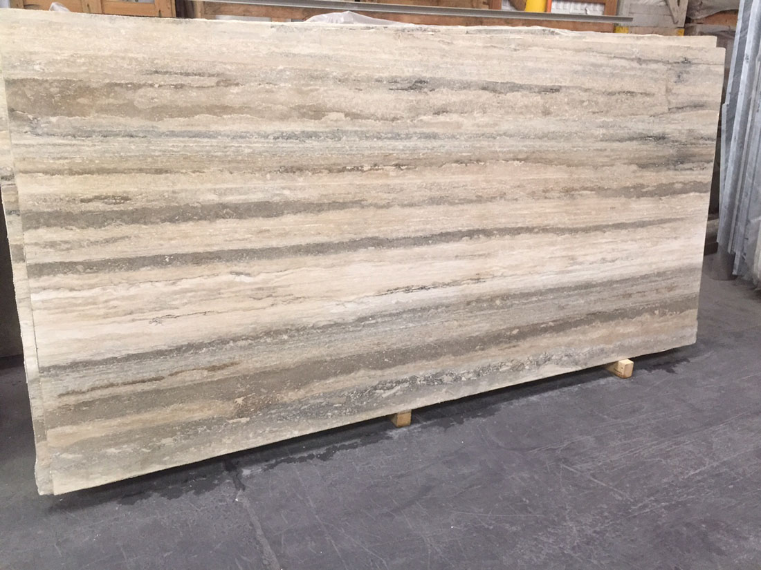 Tuscan Travertine Polished Slabs from Italy