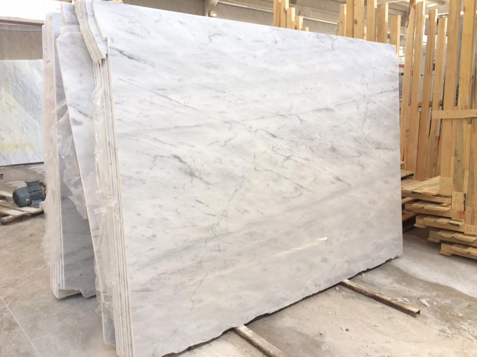 Tuskish Carrara White Marble Polished White Marble Slabs