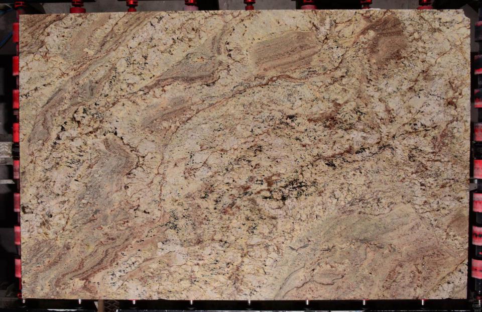Typhoon Bordeaux Granite Brazil Beige Polished Granite Stone Slabs