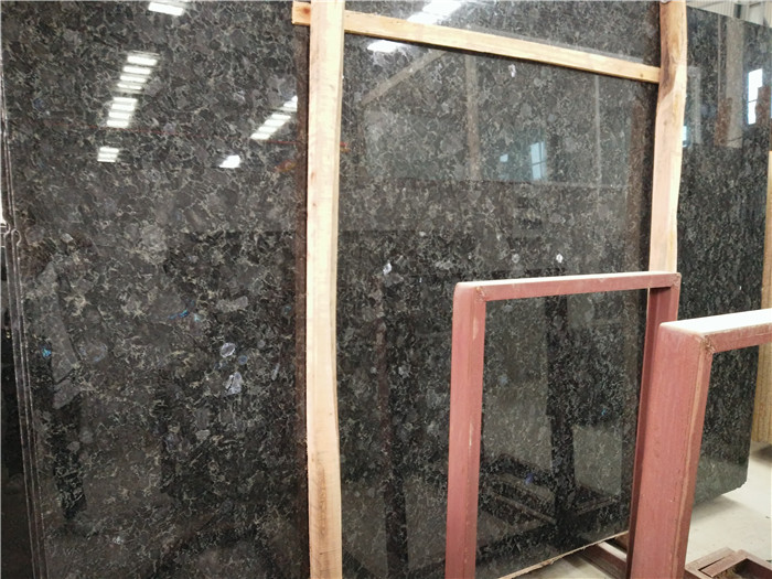 Ukraine Diamond Granite Slabs Polished Blue Granite