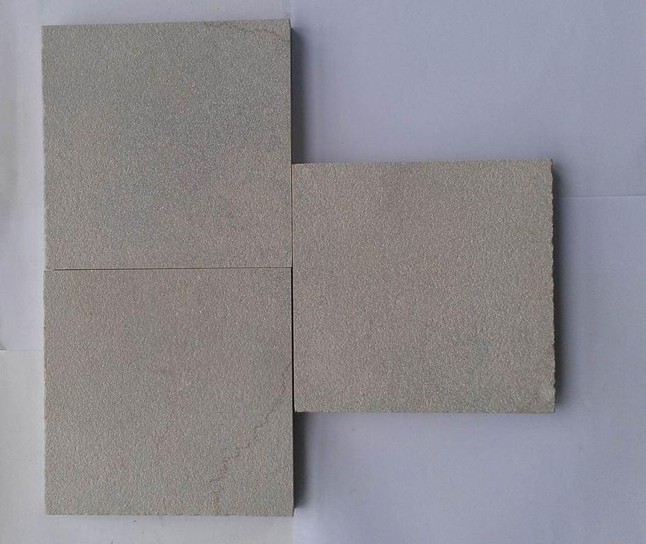 Umbra Bushhammered Grey Marble Tiles for Flooring