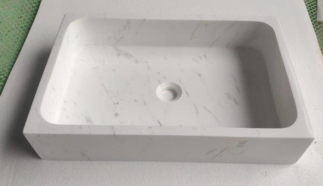 Valaksa White Marble Sink Basin