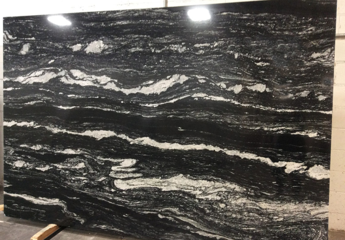Valentina Black SP Granite Slab India Polished Black Granite Stone Slabs