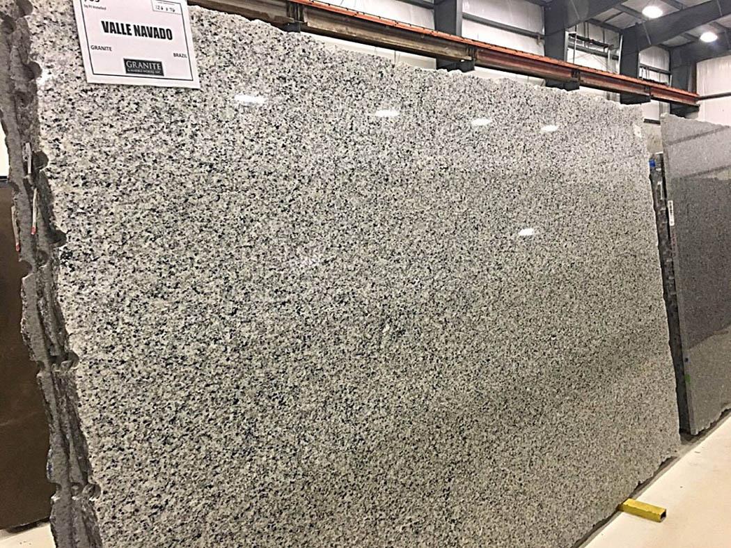 Valle Navado Full Slab Polished White Granite Slabs