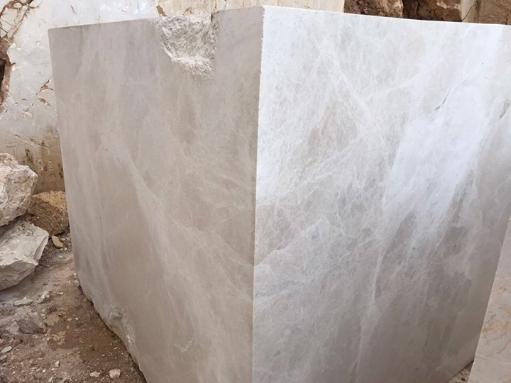 Vanilla Spider Beige Marble Blocks from Turkey