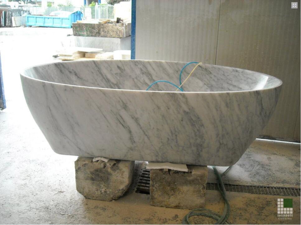 Vasca in marmo Bianco Carrara Marble Bathtub