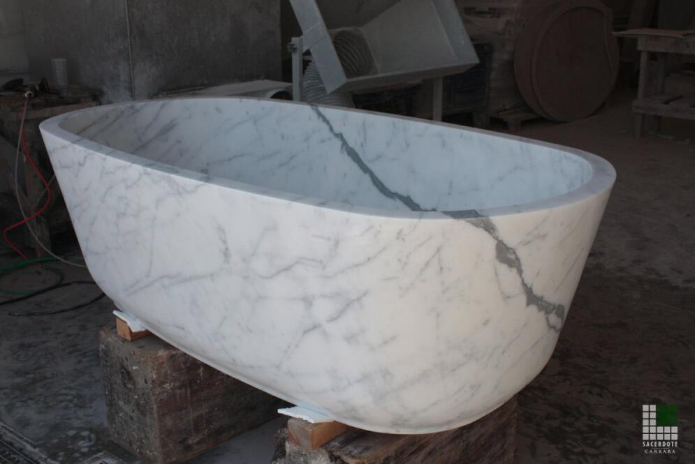 Vasca in marmo Bianco Statuario Marble Bathtub