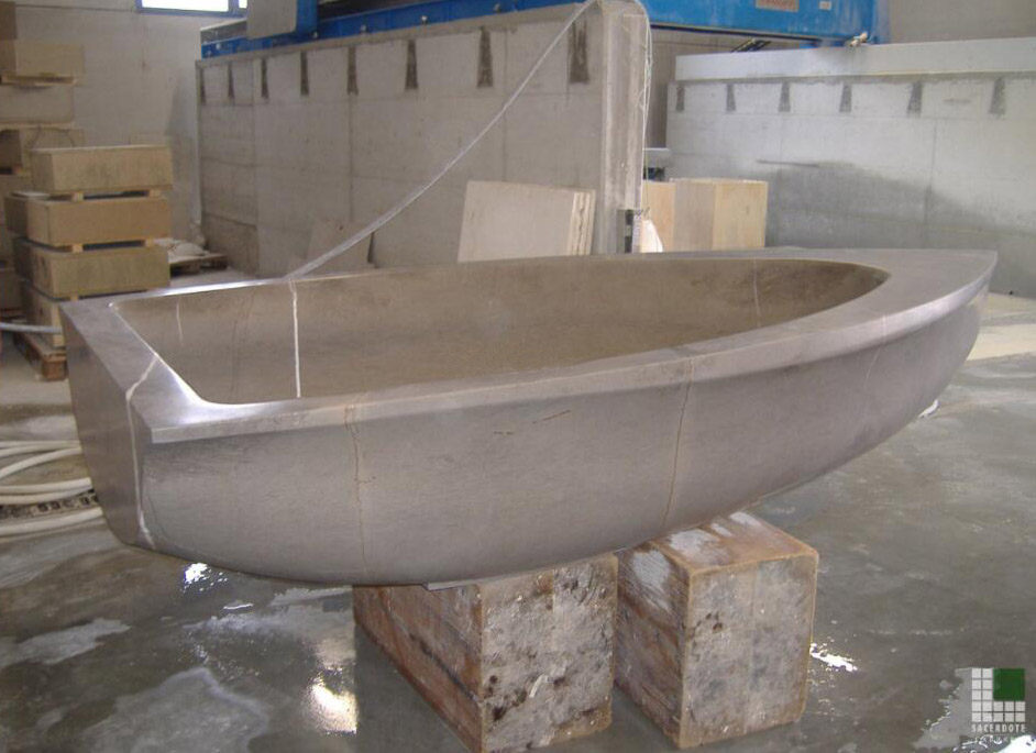 Vascabarca in pietra Stone Grey Marble Bathtub
