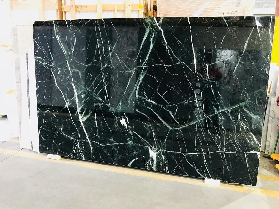 Verde Albi Bookmatched Polished Marble Slabs