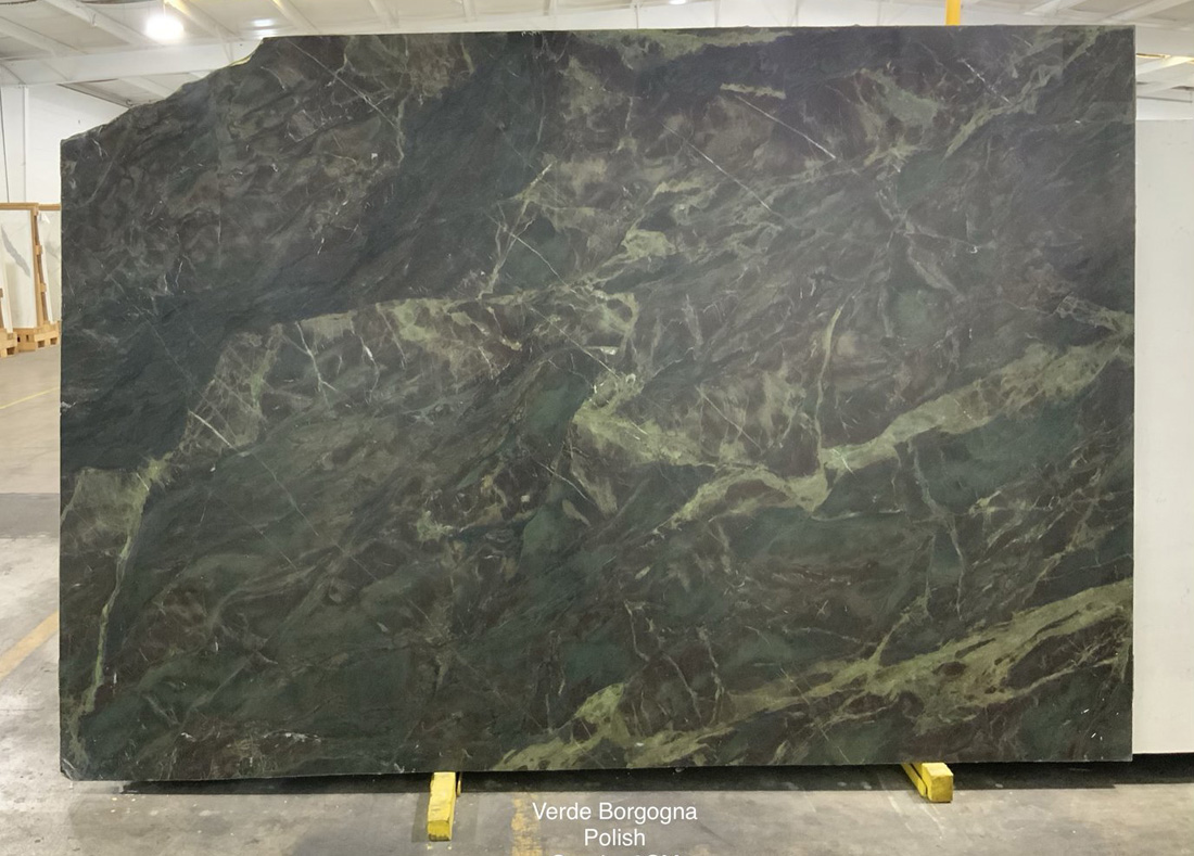 Verde Borgogna Granite Polished Green Granite Stone Slabs