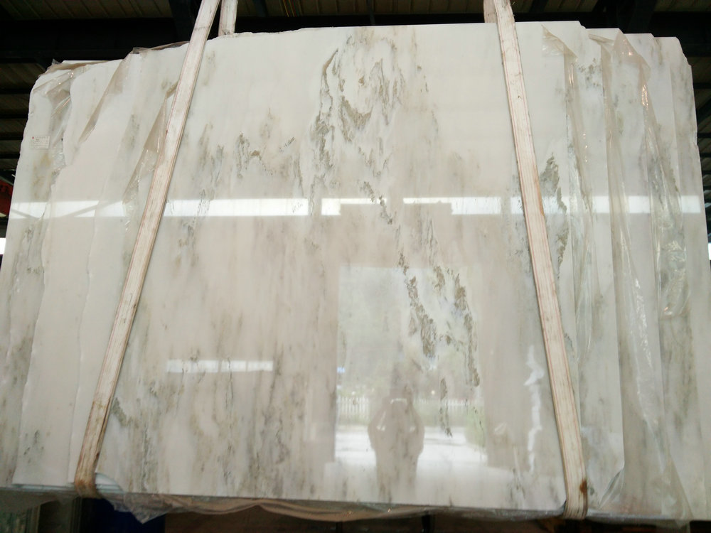Verde Galaxy Marble Polished White Marble Slabs