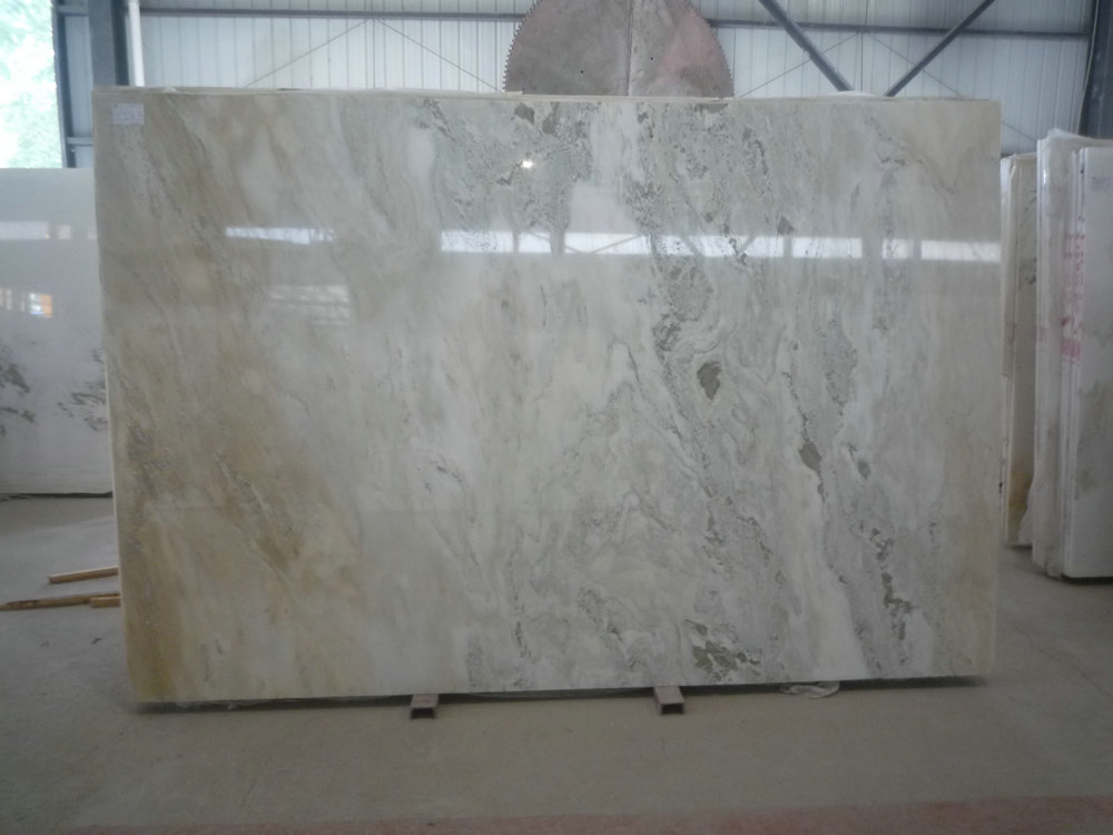 Verde Galaxy Marble Slabs White Polished Marble Slabs