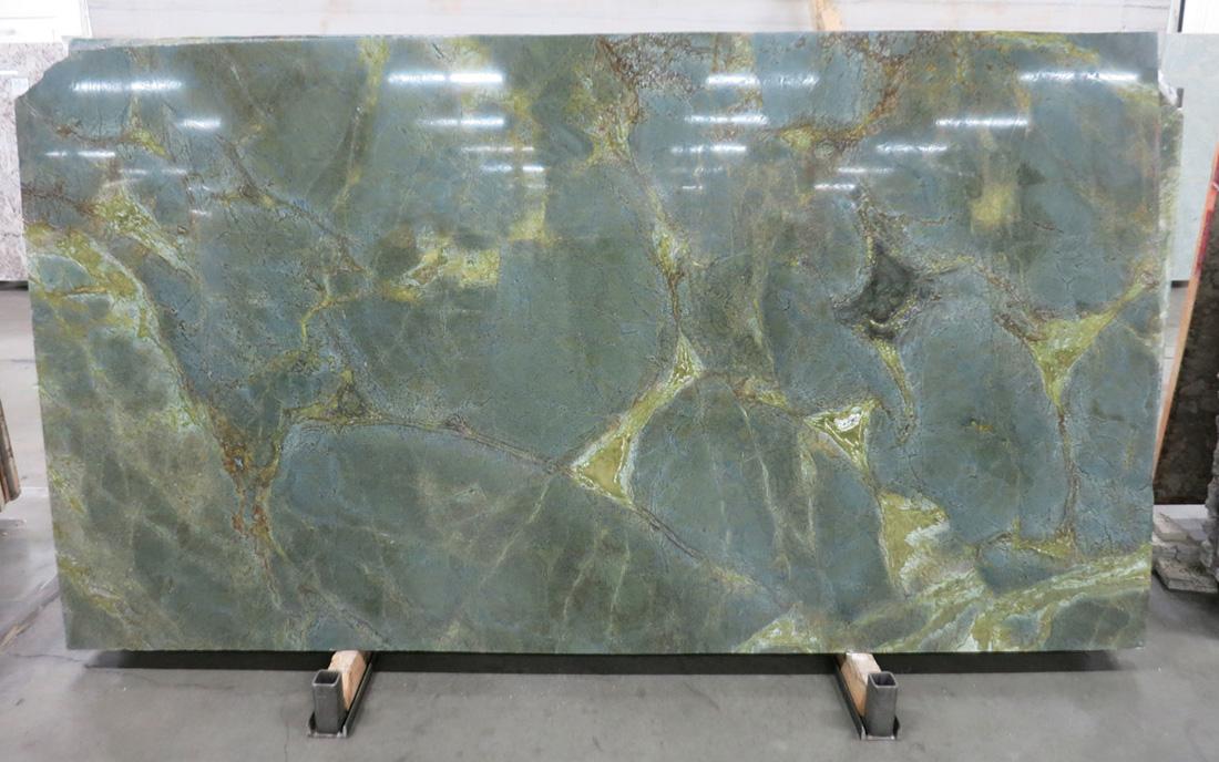 Verde Karzai Granite Slabs Brazil Polished Green Granite Slabs