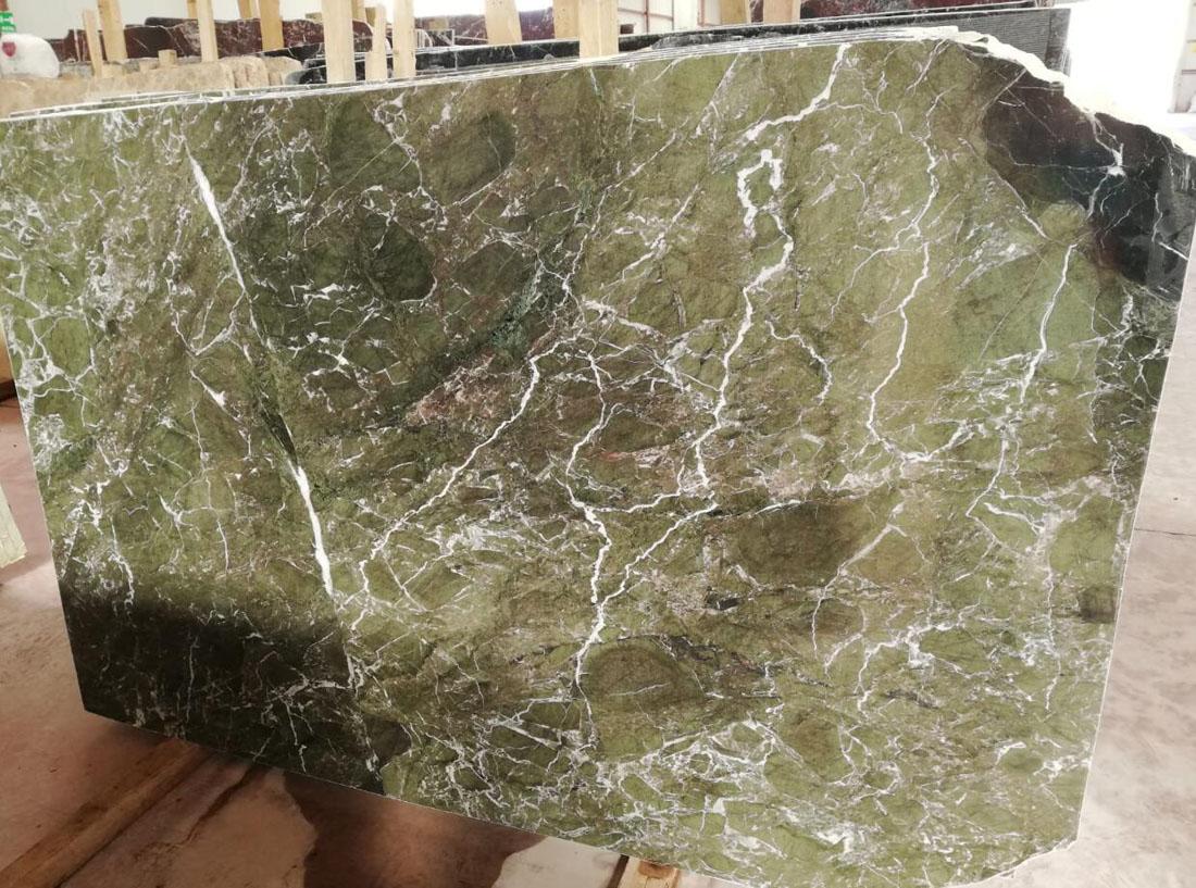 Verde Levanto Marble Slabs Green Polished Stone Slabs for Bathroom Vanity Tops