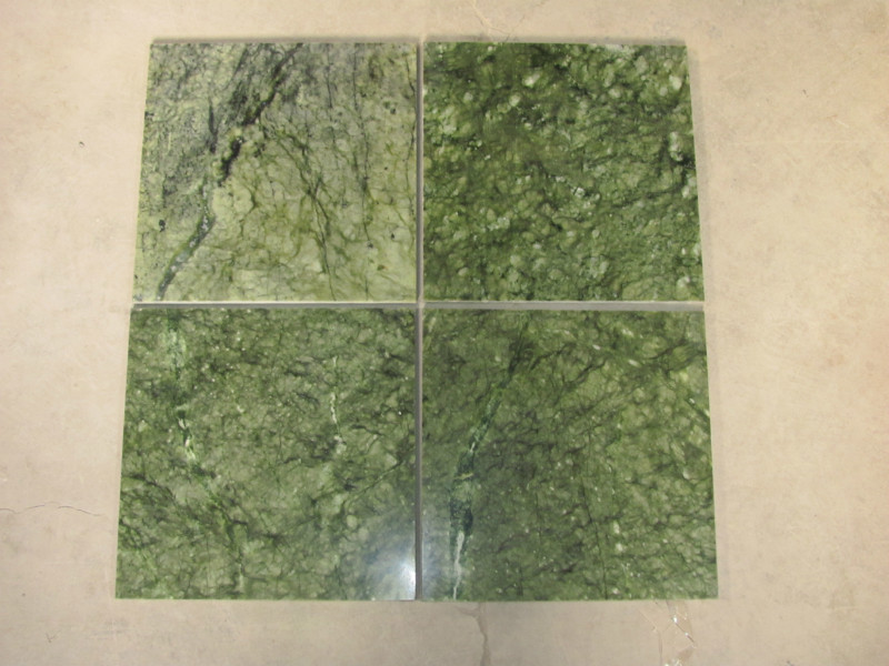 Verde Ming Marble Flooring Tiles Polished Green Marble Tiles