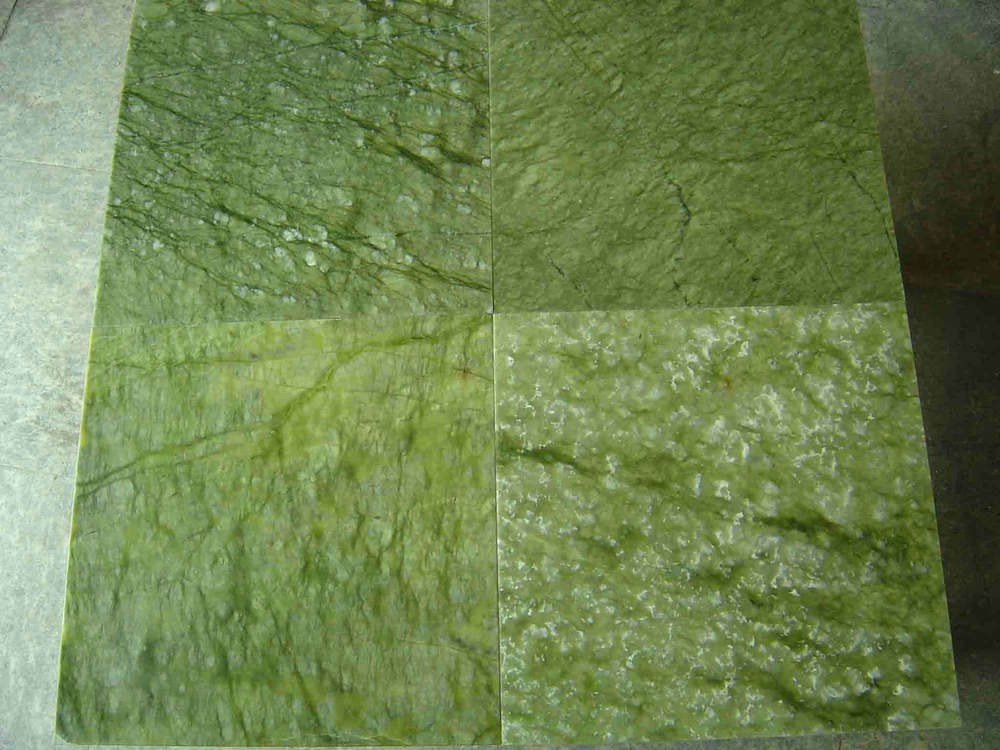 Verde Ming Marble Polished Tiles for Flooring and Walling