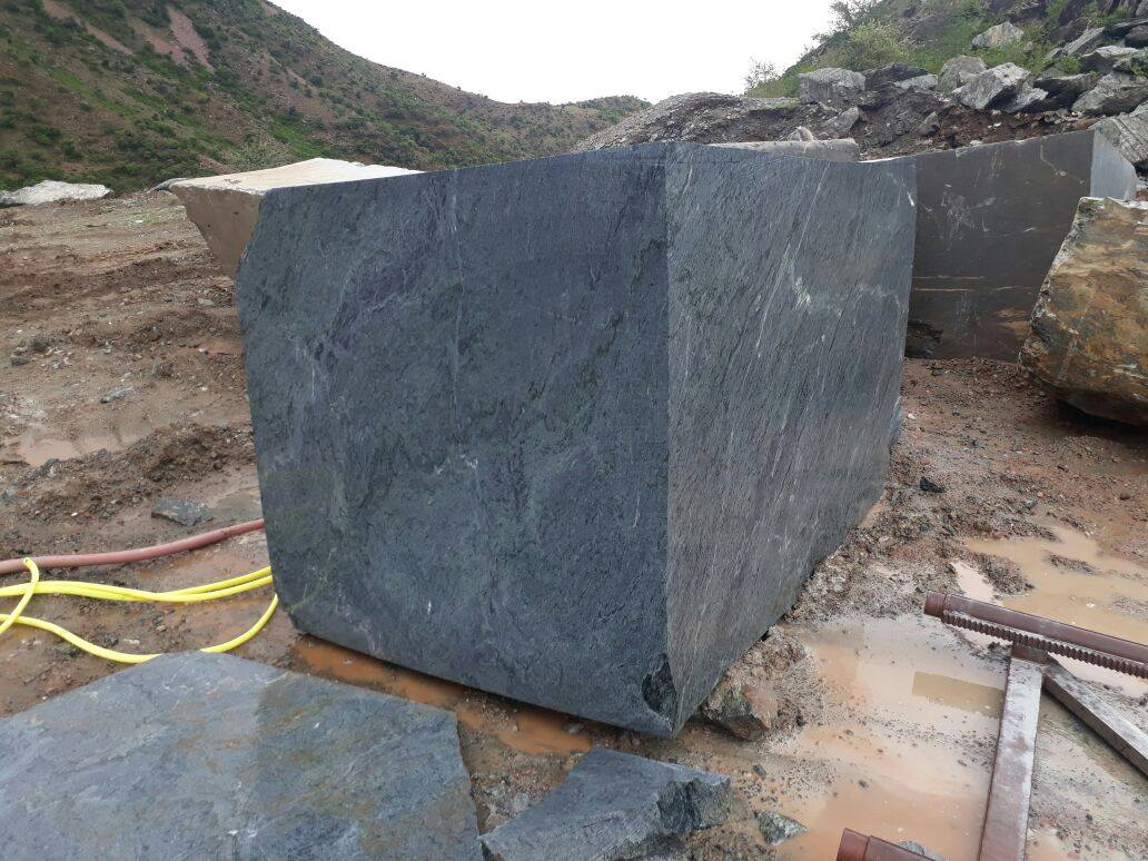 Verde Montana Marble Blocks from Indian Quarry