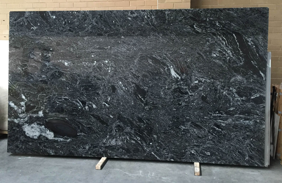 Polished Black Granite Stone Slabs