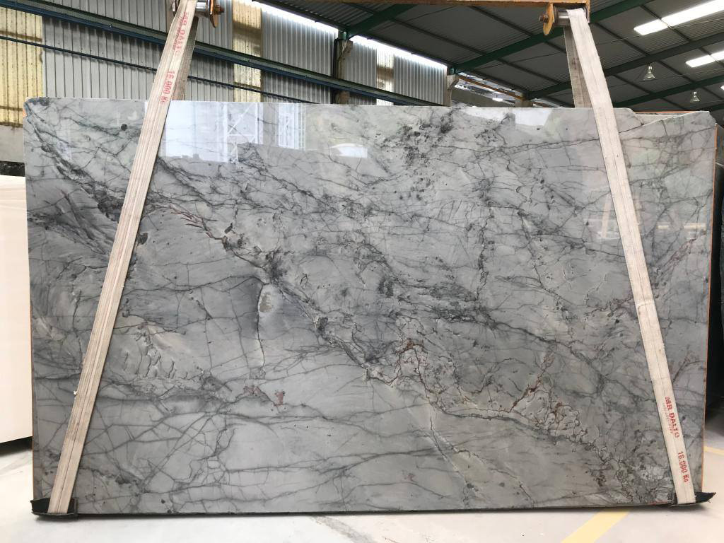 Vibranium Spider Grey Polished Marble Slabs