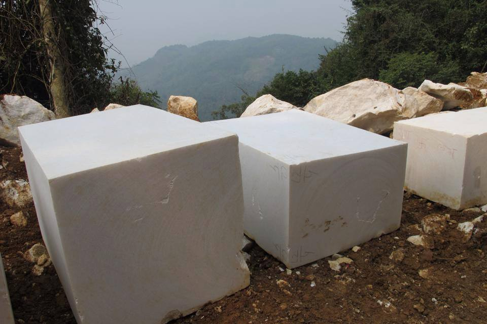 Vietnam Pure Crystal White Marble Blocks Medium Grain