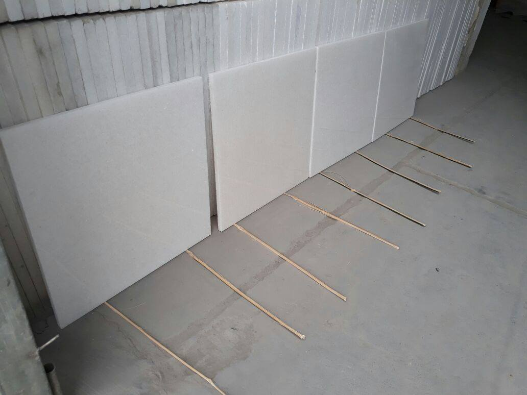 Vietnam Pure White Marble Tiles White Flooring Stone Tiles