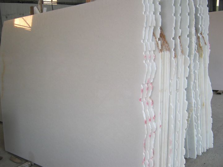 Vietnam Pure White Polished Marble Slabs