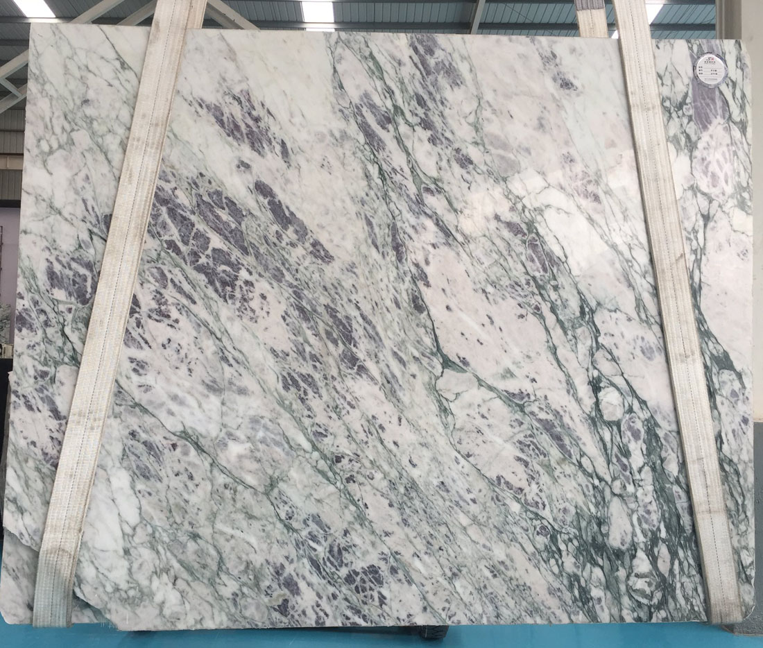 Violet Marble Polished Slab White Marble Slabs