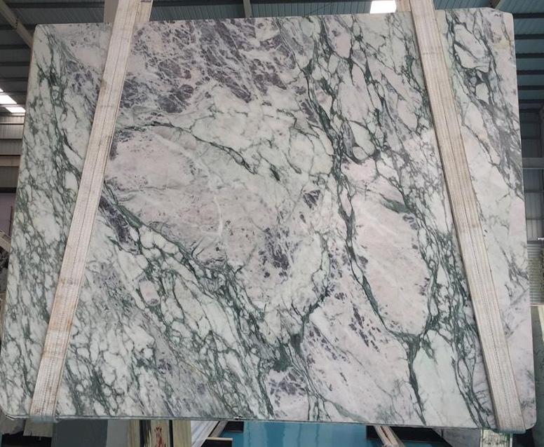 Violet Marble Slab White Polished Marble Slabs