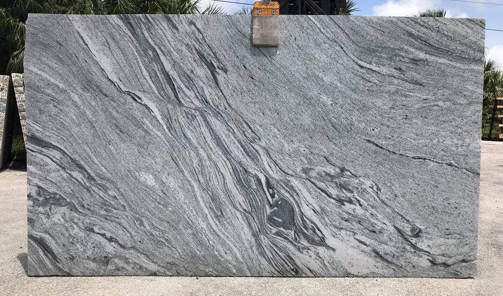 Viscont White Granite Slabs from Indian Quarry