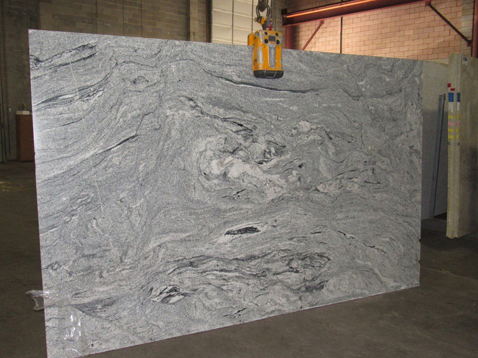 Viscont White Indian Granite Slabs White Polished Slabs