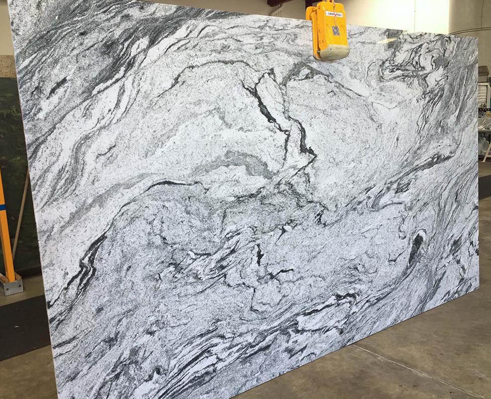 Viscount White Slab Indian White Polished Granite Stone Slabs