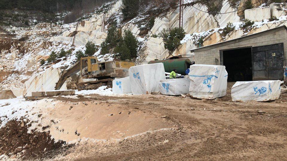 Volakas Block Natural White Marble Blocks from Greek Quarry