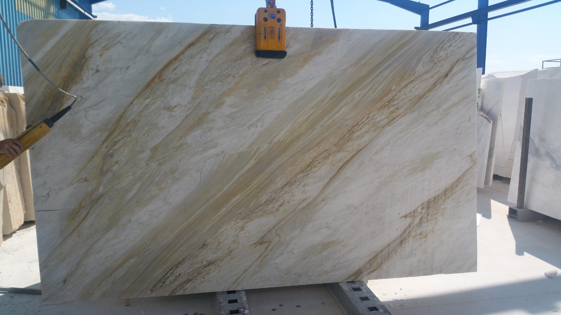 Volakas Gold Marble Slabs Greek Polished Marble Slabs