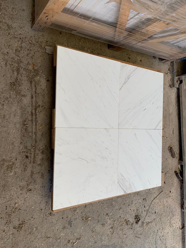 Volakas Tiles White Marble Tiles for Flooring