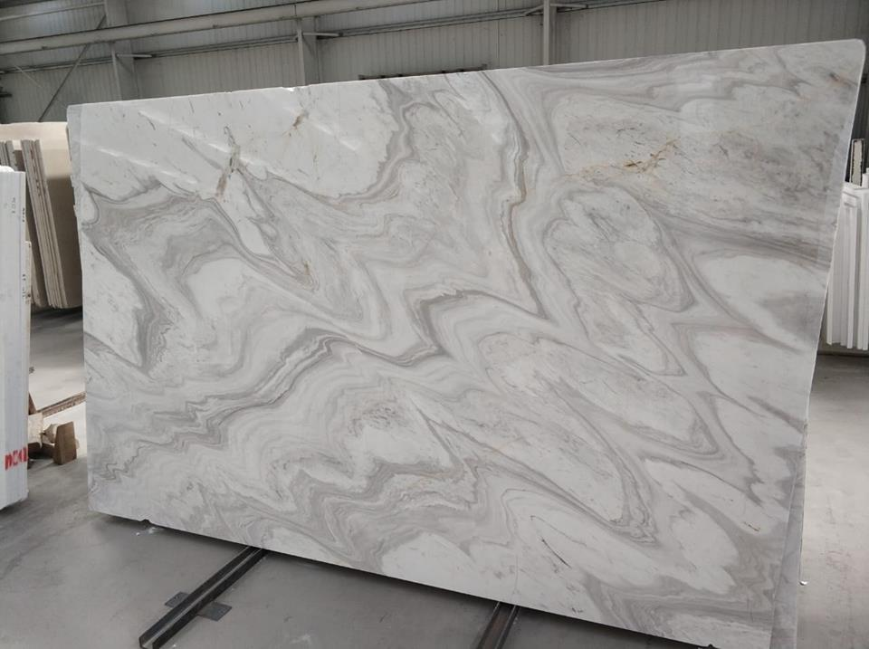 Volakas Wave Slab White Marble Slabs from Greek