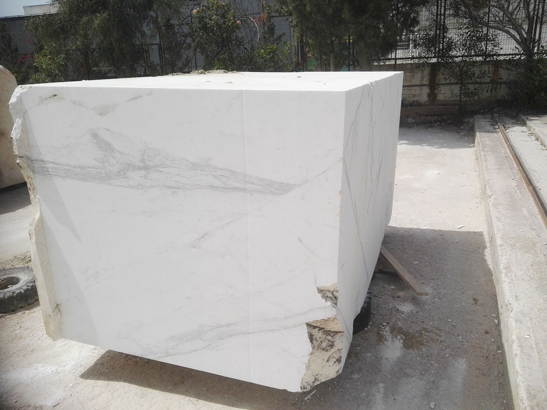 Volakas White Marble Blocks from Greece