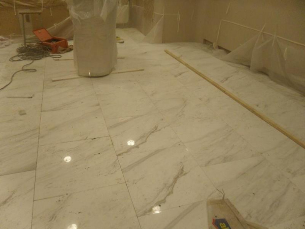 Volakas White Marble Floor Tiles